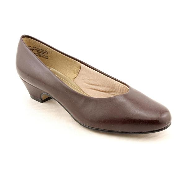 Soft Style by Hush Puppies Women's 'Angel II' Man-Made Dress Shoes - Wide (Size 11)