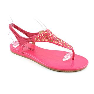 Rampage Women's Pink 'Wilma' Man-Made Sandals