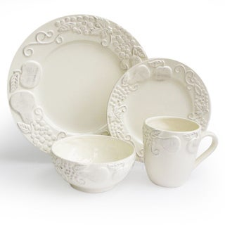 American Atelier Cream Frutta 16-piece Dinnerware Set