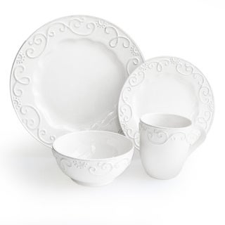American Atelier White 16-piece Dinnerware Set