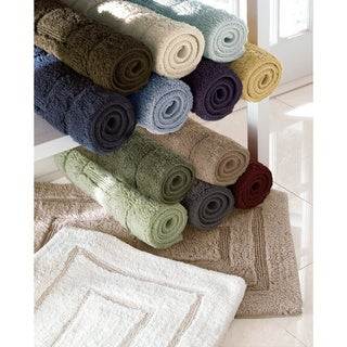 Luxurious 20 x 32-inch Cotton Bath Mat - 1'8 x 2'8