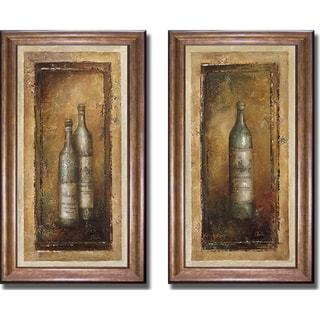 Patricia Pinto 'Serie Vino I and II' Framed 2-piece Canvas Art Set