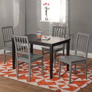 Black and Grey 'Camden' 5-piece Contemporary Dining Set