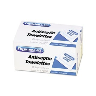Physicians Care First Aid Antiseptic Towelettes (Case of 25)