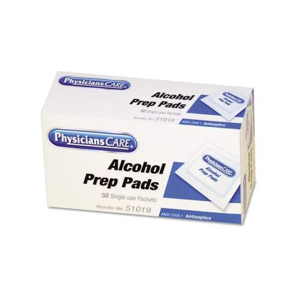 Physicians Care First Aid Alcohol Pads (Pack of 50)