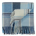 Bocasa Karo Blue Conny Woven Throw Blanket,