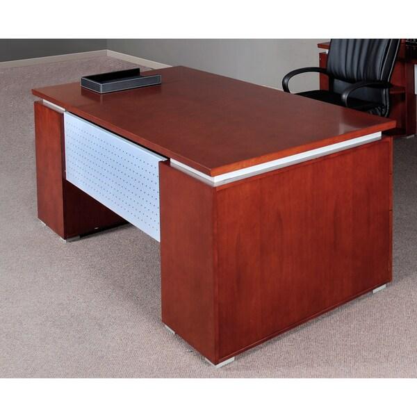 Mayline Eclipse Bowfront Double Pedestal Desk