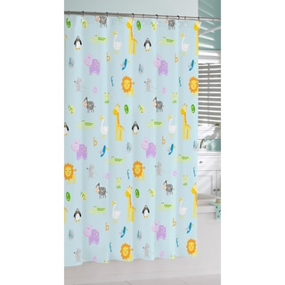 Safari Print Cotton Shower Curtain
