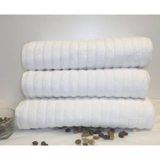 Maxima Turkish Combed Cotton 3-piece Bath Sheet Set