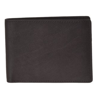 Joseph Abboud Men's Brown Leather Slim Passcase Wallet