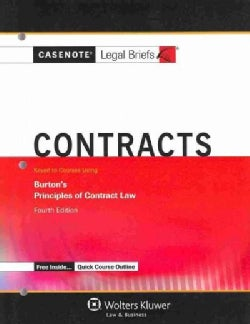Contracts: Keyed to Courses Using Burton's Principles of Contract Law (Paperback)