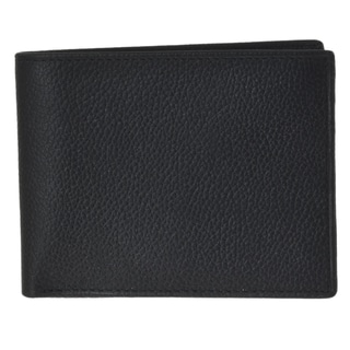 Joseph Abboud Men's Black Leather Passcase Wallet