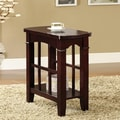 Warm Cherry Finish Side Slats End Table