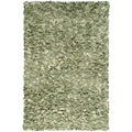 Manam Shaggy Raggy Sage and Cream Shag Rug