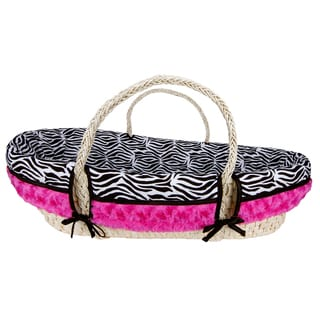 Trend Lab Zahara Zebra 4-piece Moses Basket Set