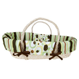 Trend Lab Giggles 4-piece Moses Basket Set