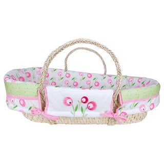 Trend Lab Tulip 4-piece Moses Basket Set