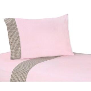 Sweet JoJo Designs 200 Thread Count Mod Elephant Bedding Collection Cotton Sheet Set