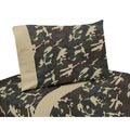Sweet JoJo Designs Green Camo Bedding Collection Cotton Sheet Set