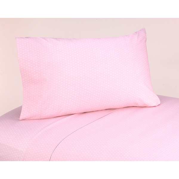 Sweet JoJo Designs 200 Thread Count Mod Dots Bedding Collection Pink Cotton Sheet Set
