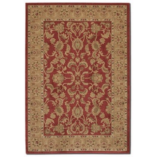 Courtisan 'Pera Qum' Crimson Area Rug (7'10 x 11'2)