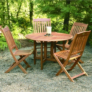 Phat Tommy 'Celebration' Table and 'Spontaneity' Folding Chair 5-piece Set
