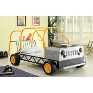 Furniture of America Metal Modern Designed Jeep Twin Bed