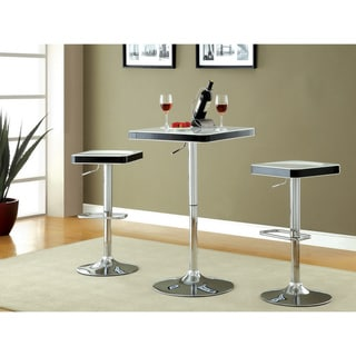 'Jetson' Square Adjustable Swivel White-top Bar Stools (Set of 2)