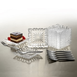 Crystal Clear Alexandria 25-piece Taster Plate Set