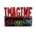 Louise Carey 'Imagine' Decorative Phrase Plaque