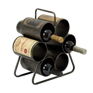 Casa Cortes Vino Wine Enthusiast Metal 6-bottle Wine Rack Display