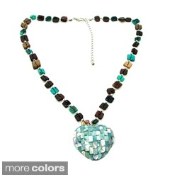 Mosaic Heart of Natural Shell Handmade Necklace (Philippines)