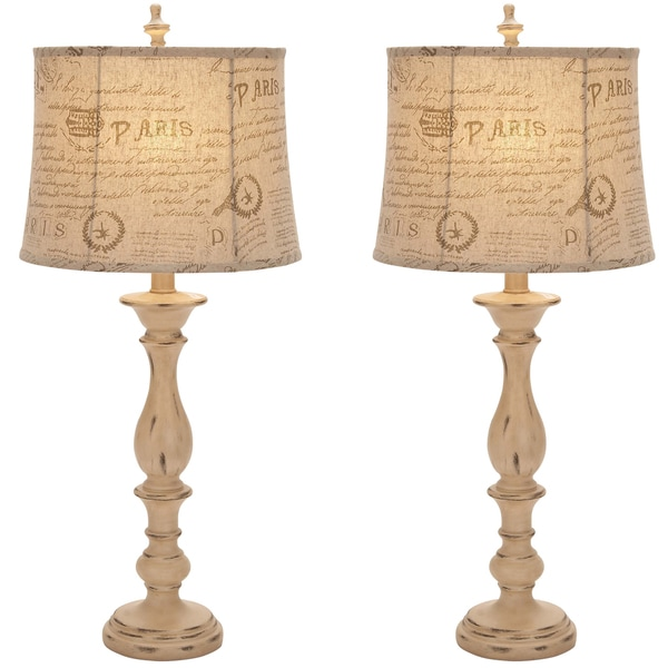 Casa Cortes French Architecture Antiqued 34-inch Table Lamp (Set of 2)