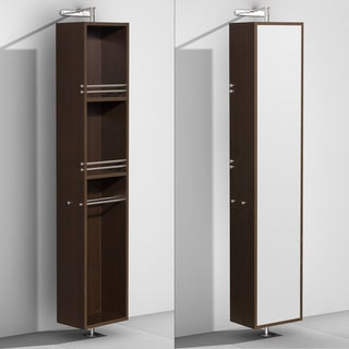 Wyndham Collection Amare Espresso Linen Tower