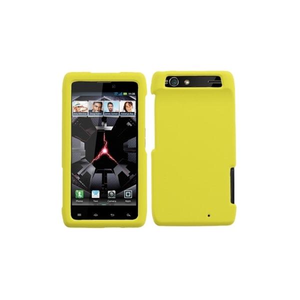 MYBAT Yellow Rubberized Case for Motorola Droid Razr XT912