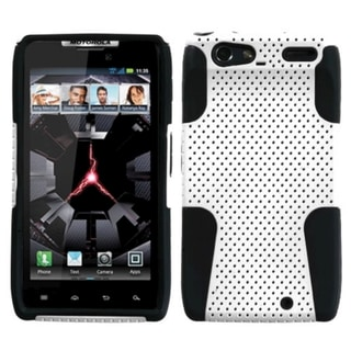 ASMYNA White/ Black Astronoot Case for Motorola Droid Razr XT912