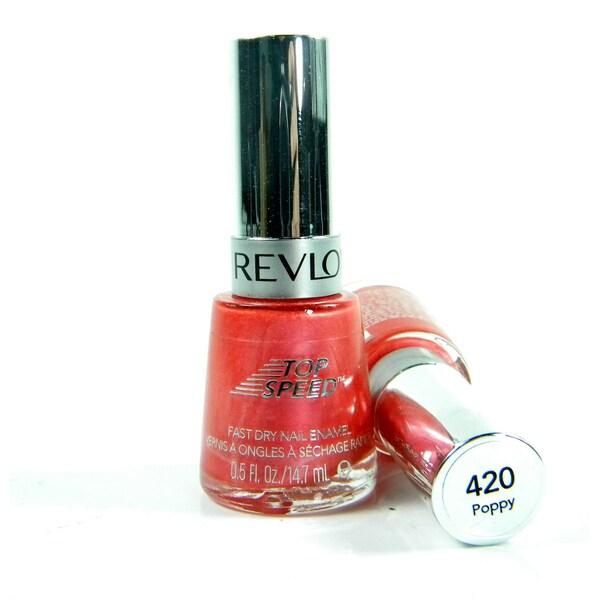 Revlon Top Speed Fast Dry #420 Poppy Nail Enamel Polish (Pack of 2) (Unboxed)