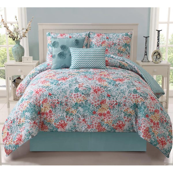 Kayla 5-piece Reversible Comforter Set