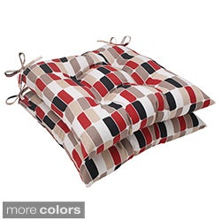 Pillow Perfect Trillium Polyester Tufted Outdoor Seat Cushions (Set of 2)