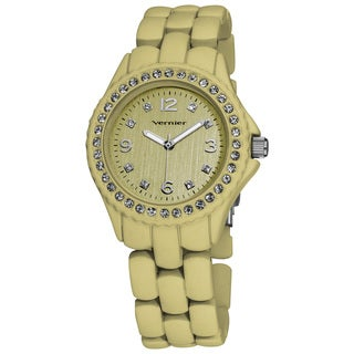 Vernier Ladies Soft Touch Beige Pastel Bracelet Quartz Fashion Watch