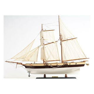 Old Modern Handicrafts Lynx Painted Model Ship