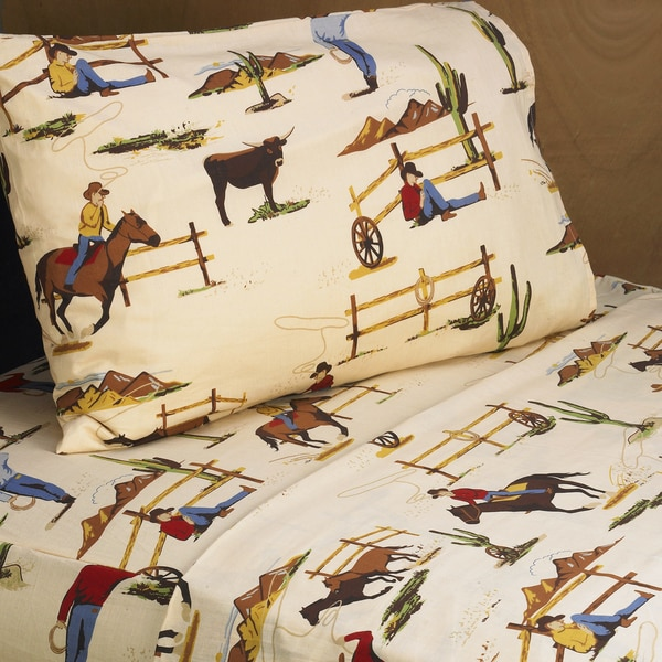 Sweet JoJo Designs 200 Thread Count Wild West Cowboy Sheet Set 10820188