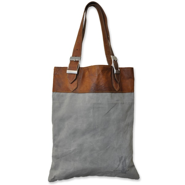 Recycled Canvas Leather Bag (India)