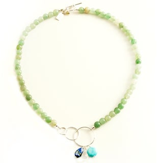 Sterling Silver 'Healing Waters' Gemstone Necklace