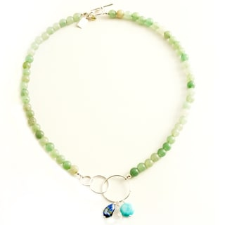 Sterling Silver 'Healing Waters' Gemstone Necklace (USA)
