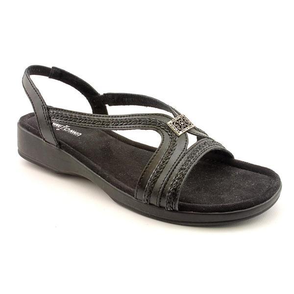 Minnetonka Women's 'Galina' Leather Sandals - Wide (Size 12)