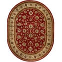 Oriental Sarouk Formal Red Area Rug (5'3 x 6'10)