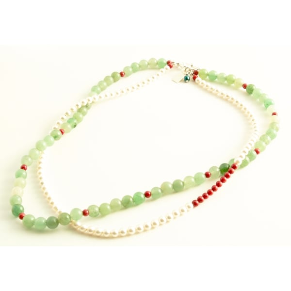Sterling Silver 'Not Your Mother's Pearls' Necklace