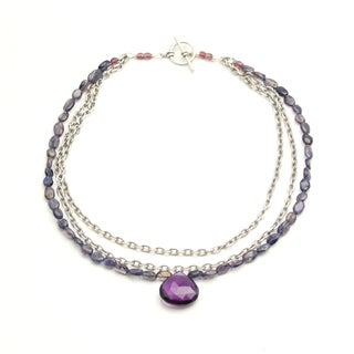 Sterling Silver 'Powerful' Gemstone Necklace