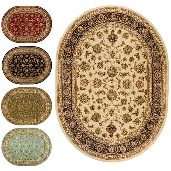 Oriental Sarouk Oval Formal Area Rug (5'3 x 6'10)